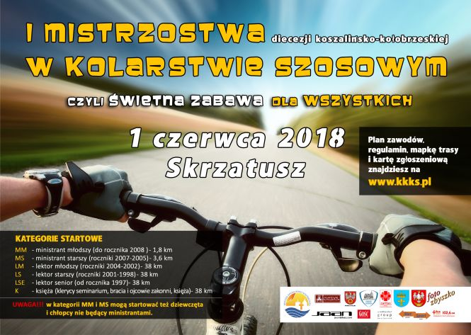 I Mistrzostwa w kolarstwie szosowym diecezji koszalińsko- kołobrzeskiej 1 czerwca w Skrzatuszu