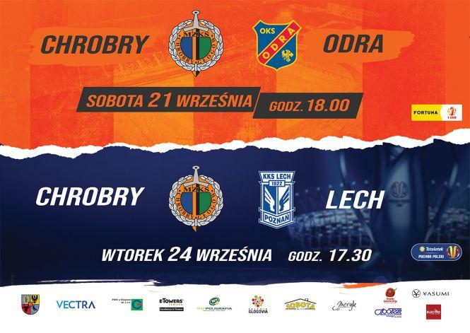 Chrobry zagra w Pucharze Polski z Lechem Poznań